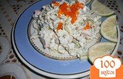 Фото рецепта: «Салат с крабовым мясом и оливками»
