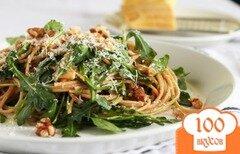 Фото рецепта: «Спагетти с рукколой»