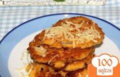 Фото рецепта: «Кукурузные оладьи с беконом»