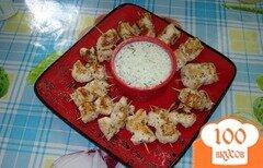 Фото рецепта: «Куриные шашлычки со сметанно-огуречным соусом»