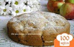 Фото рецепта: «Шарлотка с яблоками (постная)»
