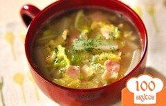Фото рецепта: «Суп из китайской капусты с беконом»