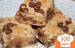Фото рецепта: «Шоколадно-овсяный брауни»