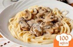 Фото рецепта: «Спагетти с шампиньонами»