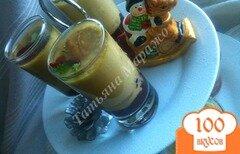 Фото рецепта: «Флан из фуа гра с брусничным вареньем»