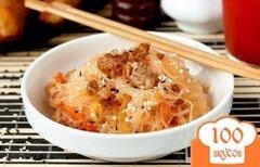 Фото рецепта: «Фунчоза с мясным фаршем и овощами»