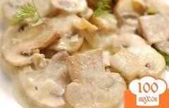 Фото рецепта: «Шампиньоны в сливочном соусе»