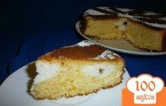 Фото рецепта: «Апельсиновый пирог с творогом и шоколадом»