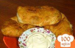 Фото рецепта: «Дрожжевые пирожки с картофелем и печенью»