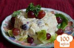 Фото рецепта: «Салат с тунцом и виноградом»