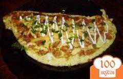 Фото рецепта: «Омлет с сыром и мясом»