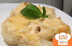 Фото рецепта: «Цветная капуста запеченная в духовке со сливками»
