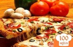 Фото рецепта: «Пицца в микроволновке»