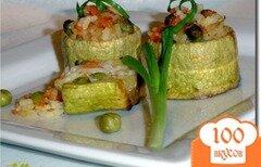 Фото рецепта: «Бочонки из кабачков, фаршированные рисом и овощами»