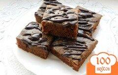 Фото рецепта: «Шоколадный манник (постный)»
