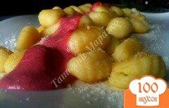 Фото рецепта: «Ньокки со свекольно-сырным соусом»