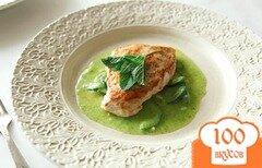 Фото рецепта: «Курица с соусом из цуккини»