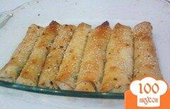 Фото рецепта: «Трубочки из лаваша с начинкой»