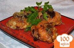 Фото рецепта: «Куриные бедра с черносливом»
