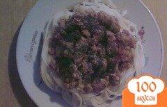 Фото рецепта: «Спагетти по-болонски»