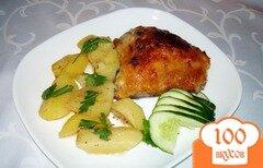 Фото рецепта: «Куриные бедра, запеченые с абрикосовым вареньем»