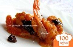 Фото рецепта: «Креветки под шоколадным соусом»