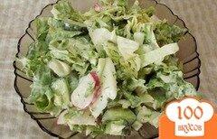 Фото рецепта: «Салат с огуречным соусом»