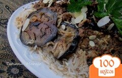 Фото рецепта: «Ma'loubeh - Рис с баклажанами и фаршем»