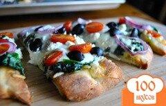Фото рецепта: «Греческая пицца на лепешках»