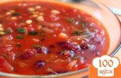 Фото рецепта: «Постный суп с фасолью»