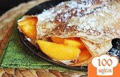 Фото рецепта: «Блинчики с персиками»