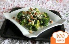 Фото рецепта: «Салат из брокколи с сырной заправкой»