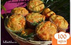 Фото рецепта: «Маффины с ветчиной, сыром и пряными травами»