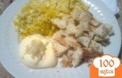 Фото рецепта: «Яйца с сухариками в чесночном соусе»