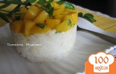 Фото рецепта: «Рисово-кокосовый тимбаль с манго»