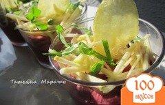 Фото рецепта: «Свекольный крем с авокадо и яблоком»