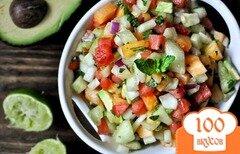 Фото рецепта: «Салат с дыней и арбузом»