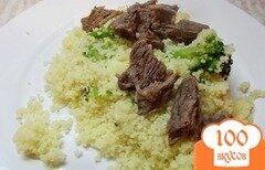 Фото рецепта: «Кус-кус с брокколи на мясном бульоне»