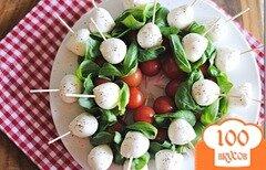 Фото рецепта: «Капрезе-шашлык с бальзамическим уксусом»