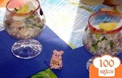 Фото рецепта: «Овощной салат с грибами в бокале»