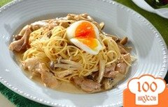 Фото рецепта: «Спагетти с куриным сливочным соусом»