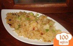 Фото рецепта: «Нежная тушеная капусточка с ананасом»