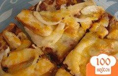Фото рецепта: «Пицца с курицей и соусом барбекю»
