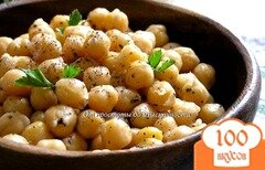 Фото рецепта: «Нут с оливковым маслом и базиликом»