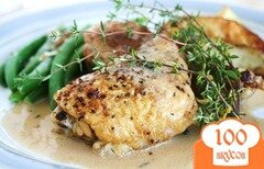 Фото рецепта: «Жаренный цыпленок в горчичном соусе с маскарпоне»
