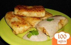 Фото рецепта: «Блины с картофелем и селедочным соусом»