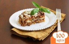 Фото рецепта: «Запеканка из спагетти с мясным соусом»