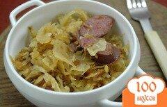 Фото рецепта: «Кислая капуста, тушенная с колбасками и тмином»