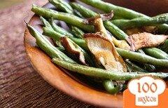 Фото рецепта: «Зеленая фасоль с грибами Шиитаке и чесноком»