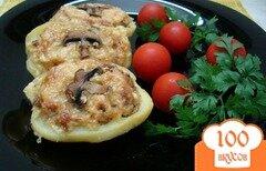 Фото рецепта: «Картофель фаршированный шампиньонами»